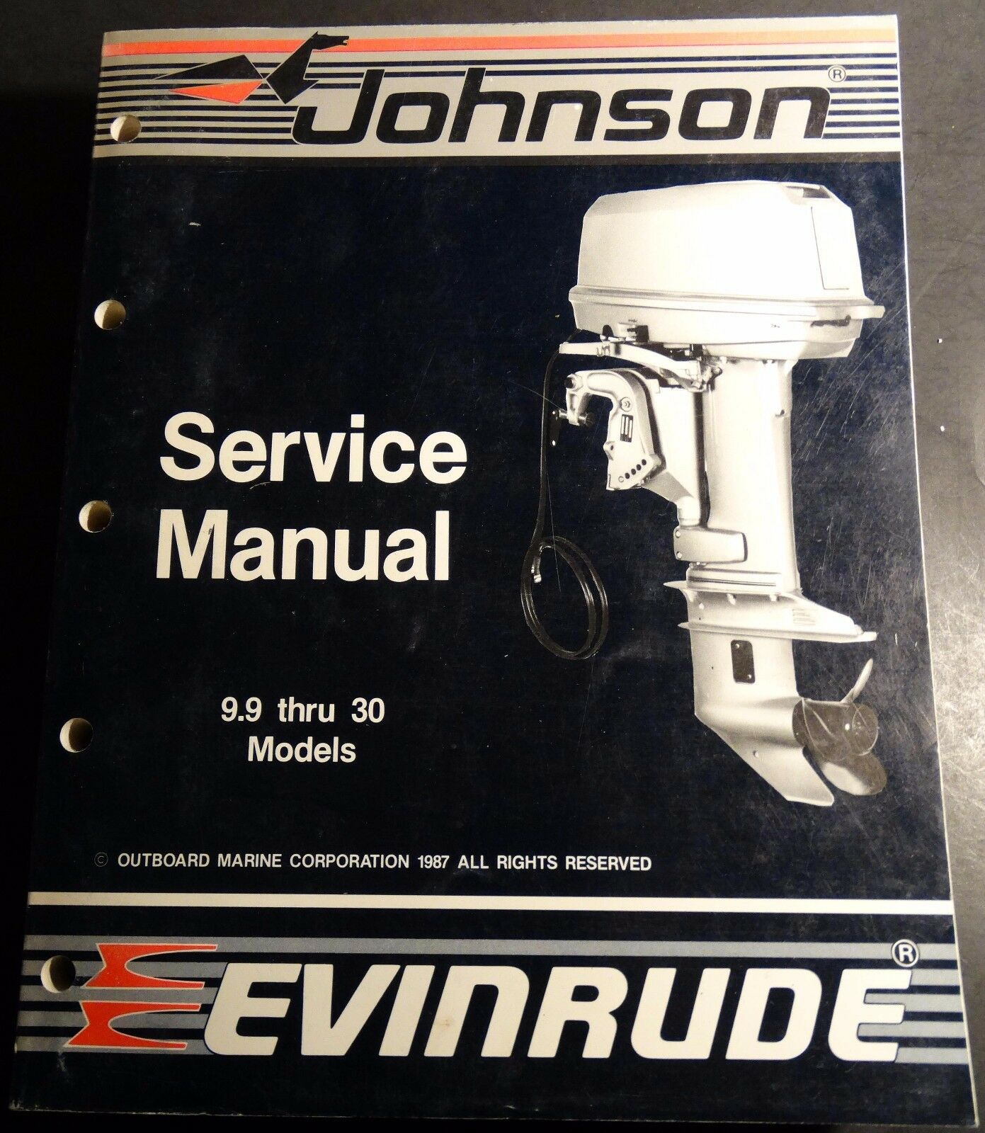 1988 Omc Cc Evinrude Johnson 9.9 Thru 30 Hp Service Manual P/n 507660 (