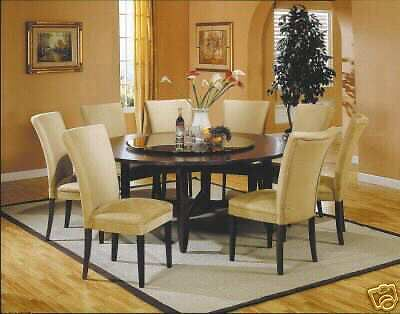72 6 ft round dining table set 8 chairs furniture for 6 foot round dining table