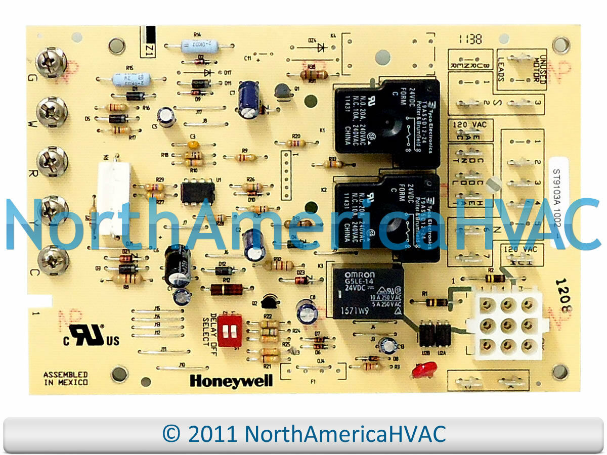 Honeywell Furnace Fan Control Circuit Board St9103a1028 17495 Automatic Switch Controlcircuit Diagram 1 Of 1free Shipping