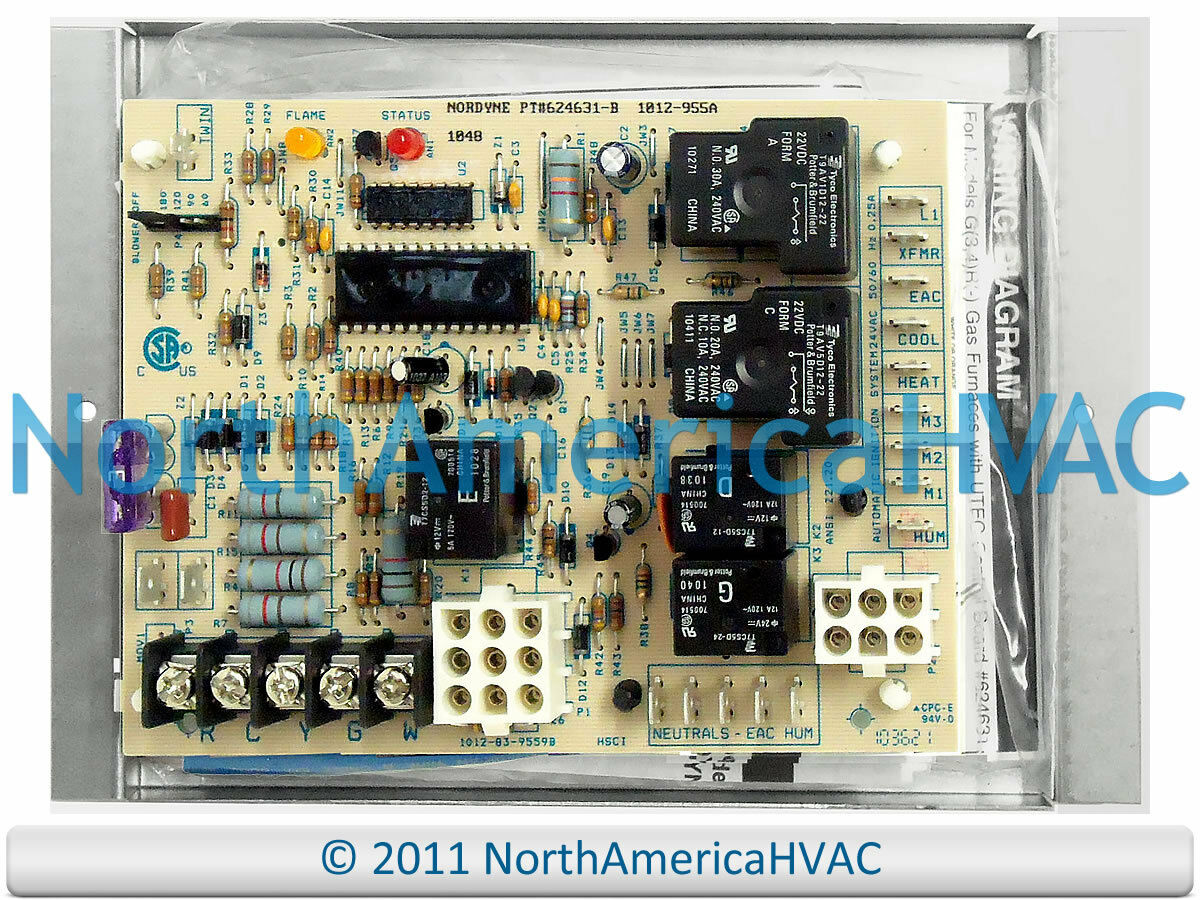 Intertherm Miller Nordyne Control Board 624631 624591 15725 Circuit Wiring Diagrams 1 Of See More