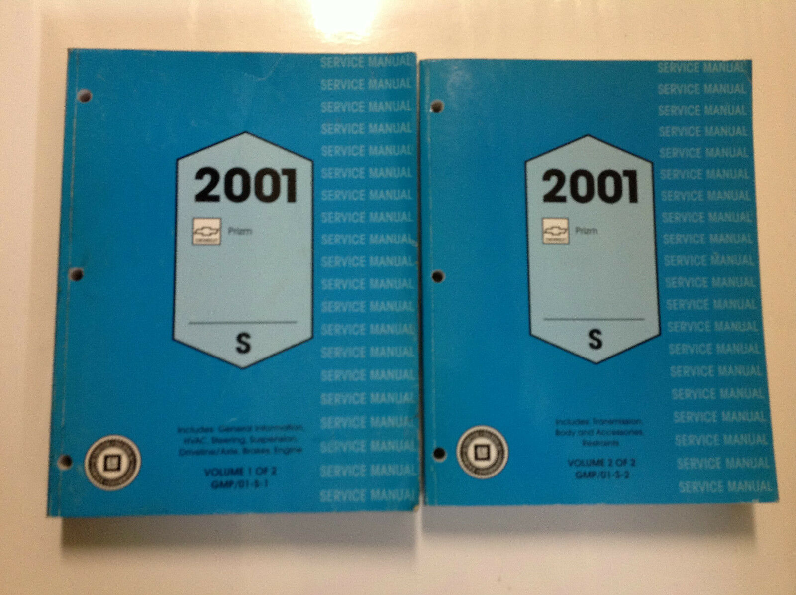 2001 Chevrolet Chevy GEO PRIZM Service Shop Repair Manual Set DEALERSHIP 01  1 of 10Only 1 available ...