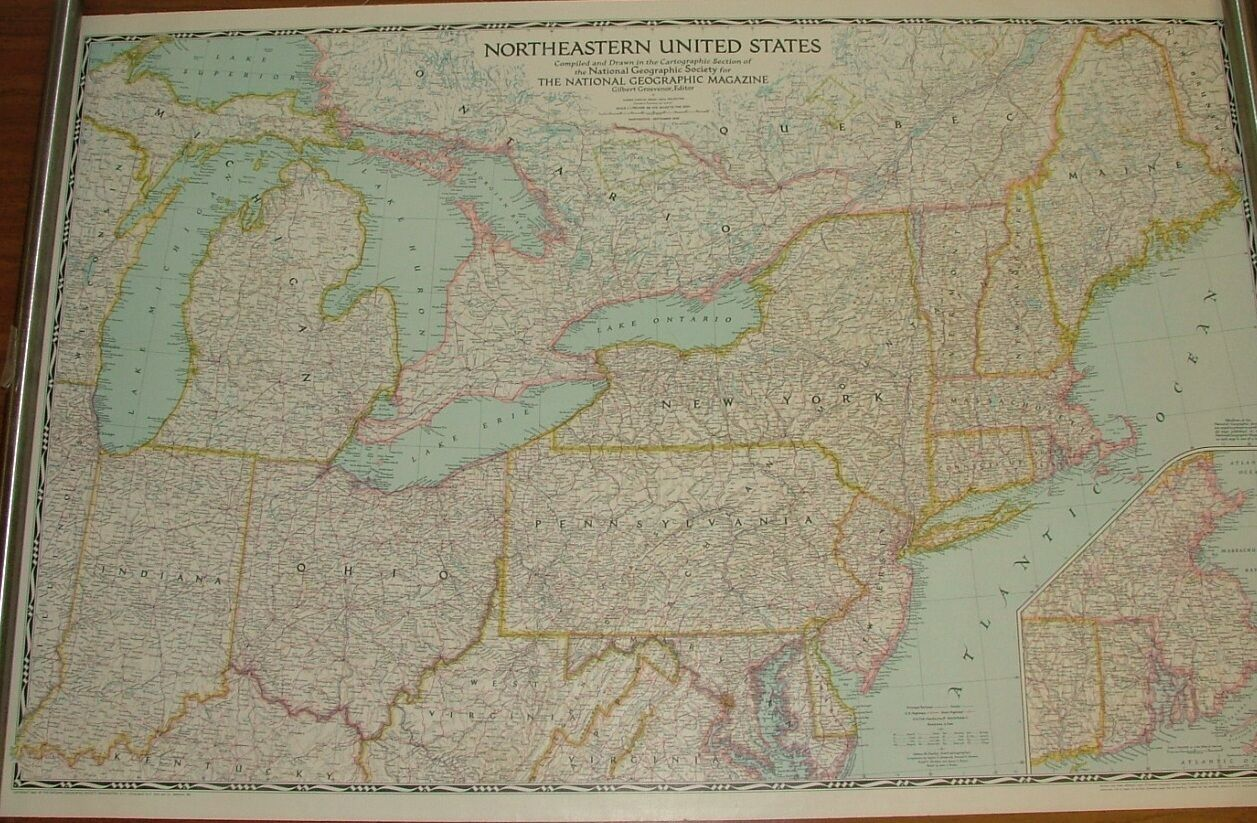 Sterling Numismtica MAPAS NATIONAL GEOGRAPHIC