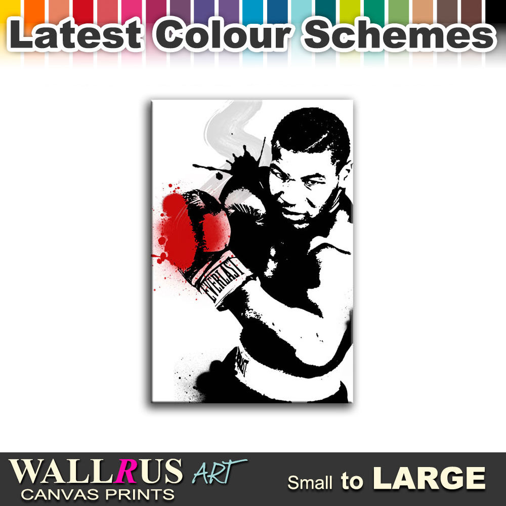 IRON MIKE TYSON Boxing Icon Canvas Print Framed Photo Picture Wall ...