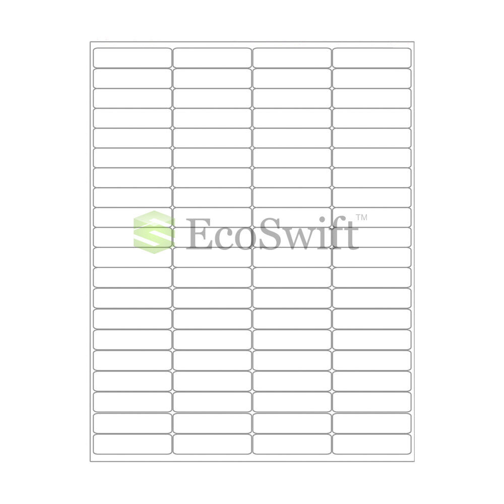 40000 1 75 x 0 5 laser return address shipping labels 80 per sheet