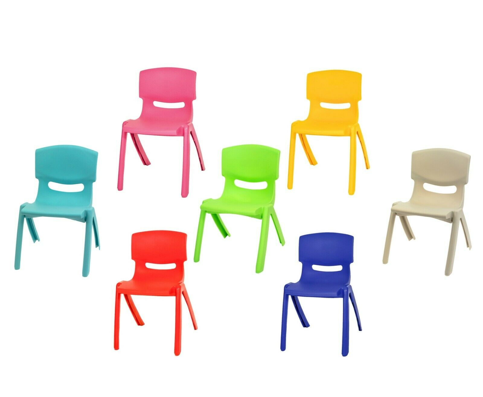Stackable Kids Children Plastic Chair Home Picnic Party Up To 60kg In 5 Colours