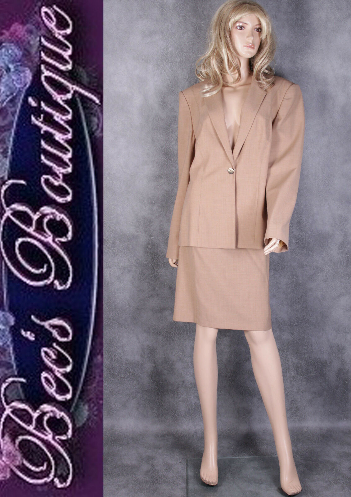 new brown j skirt suit size 16 18 womens 2pc