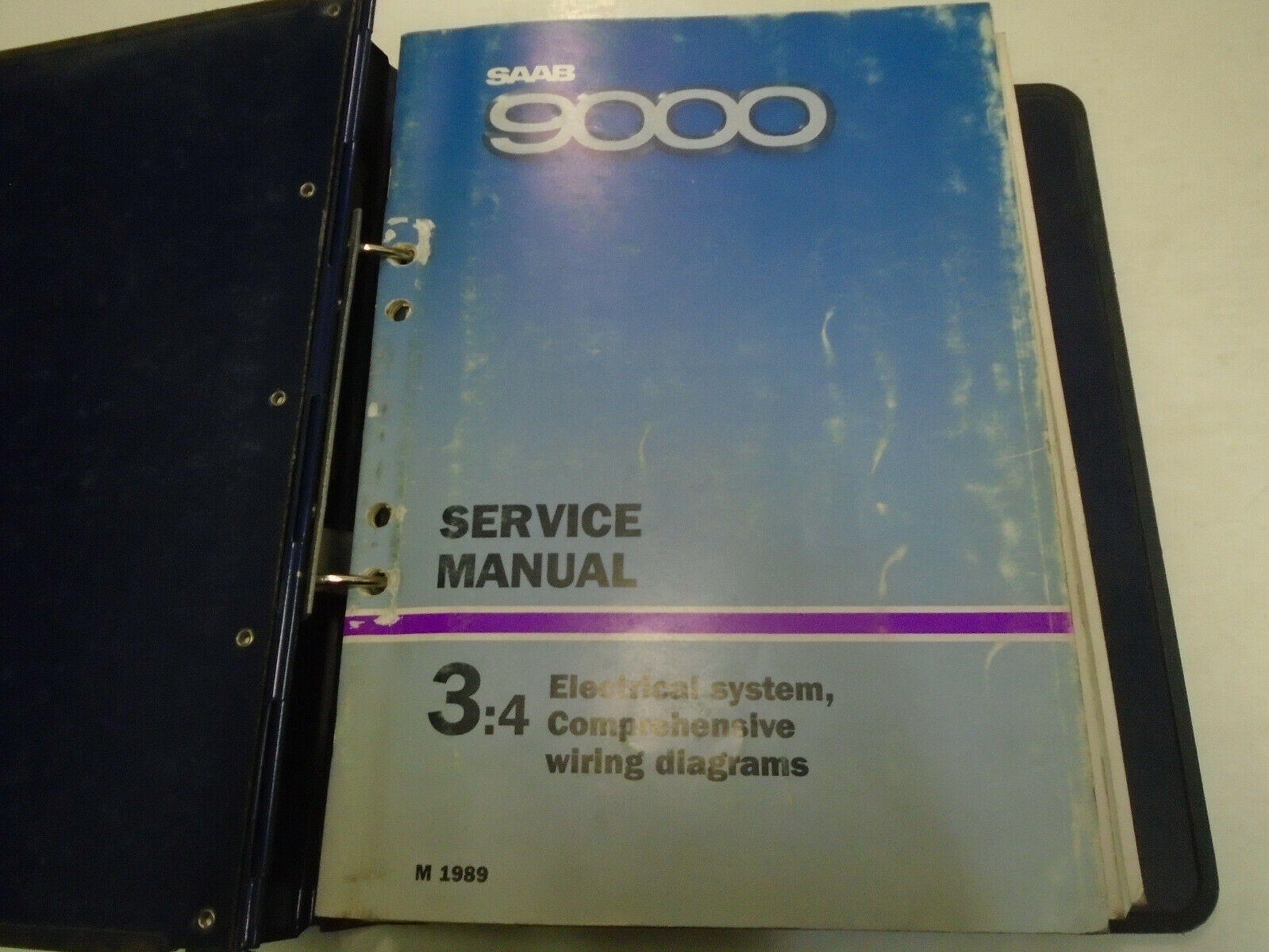 1989 90 1991 Saab 9000 Electrical Wiring Diagram Fault Tracing For 1990 900 Service Manual 1 Of 1only Available