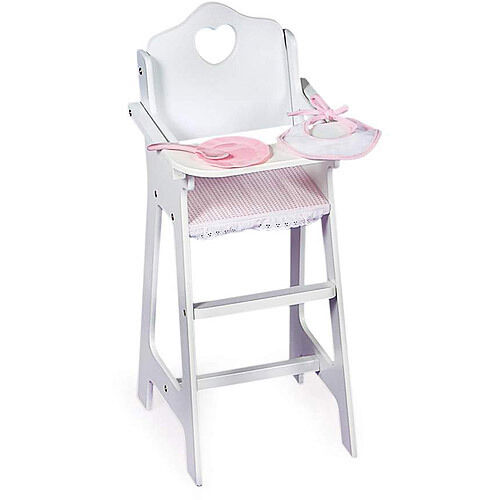 Kids White Wooden Baby Doll Highchair Bib Set For 18 American Girl Accessories 1 Of 1only Available See More