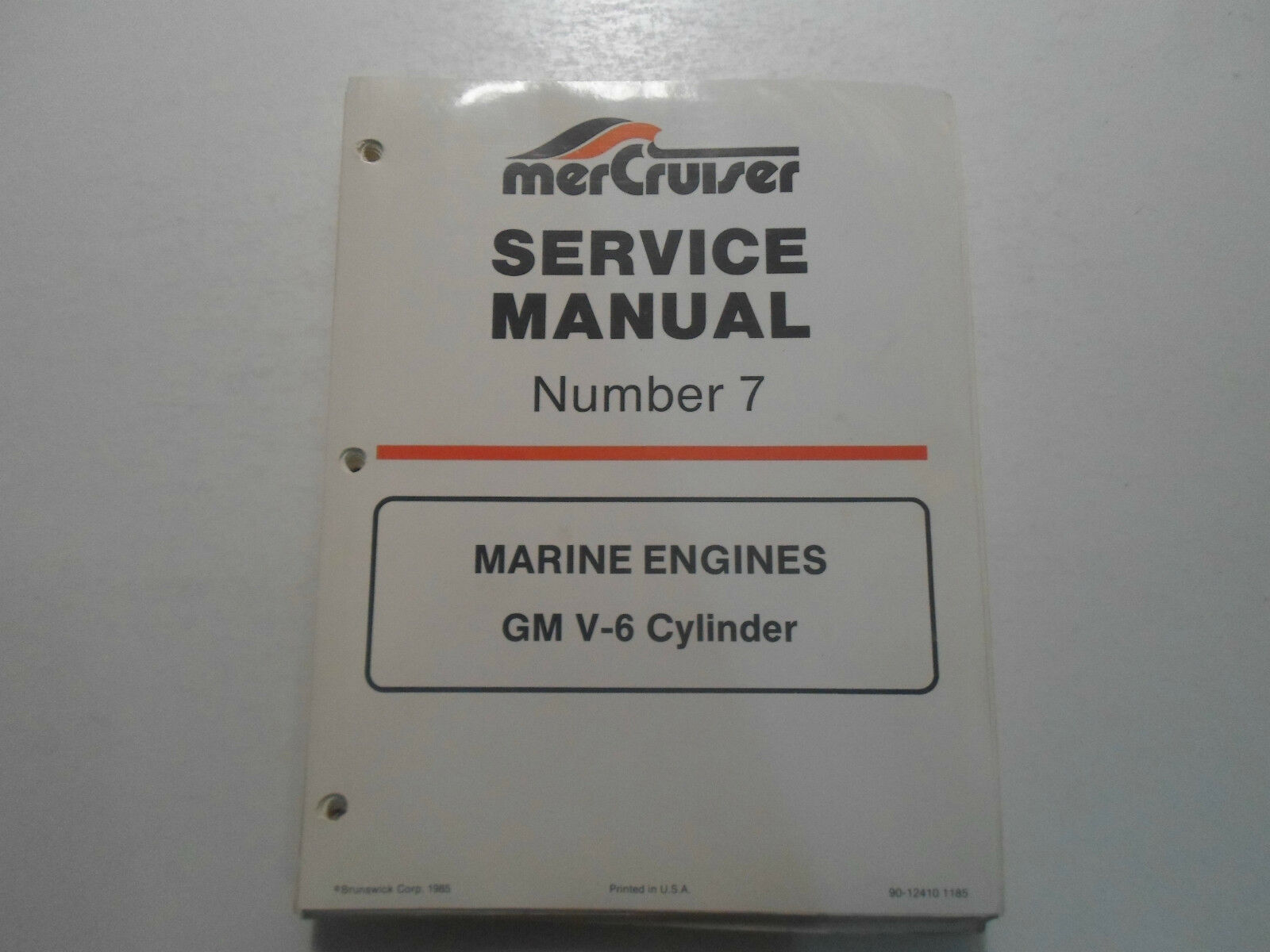 1985 MerCruiser #7 Marine Engine GM V6 Cylinder LOOSE PAGES Service Manual  OEM 1 of 5Only 1 available ...