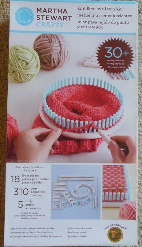 Martha Stewart Crafts Knit And Weave Loom Kit Knitting Loom Set On
