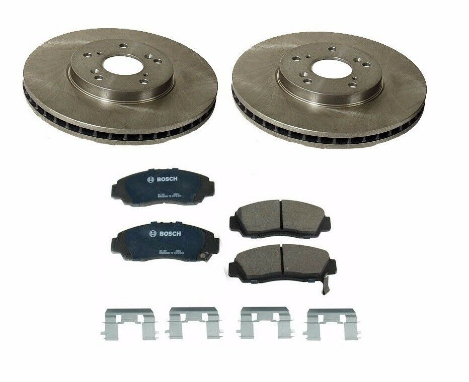 honda accord 03 11 front brake rotors with brake pads kit picclick. Black Bedroom Furniture Sets. Home Design Ideas