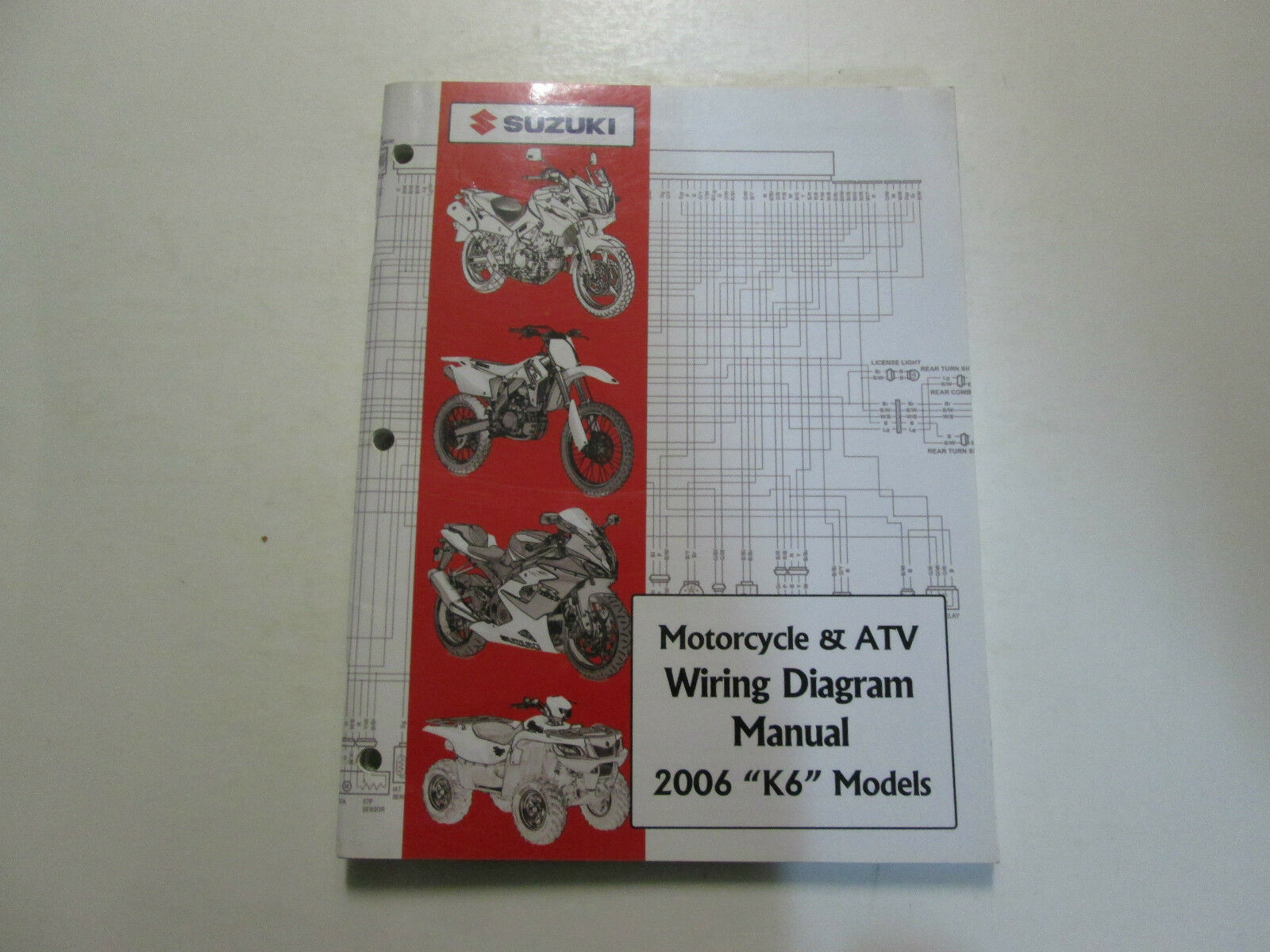 2006 Suzuki Motorcycle Atv Wiring Diagram Manual Models K6 Factory Honda Ct70 Clymer Electrical 1 Of 12only 3 Available