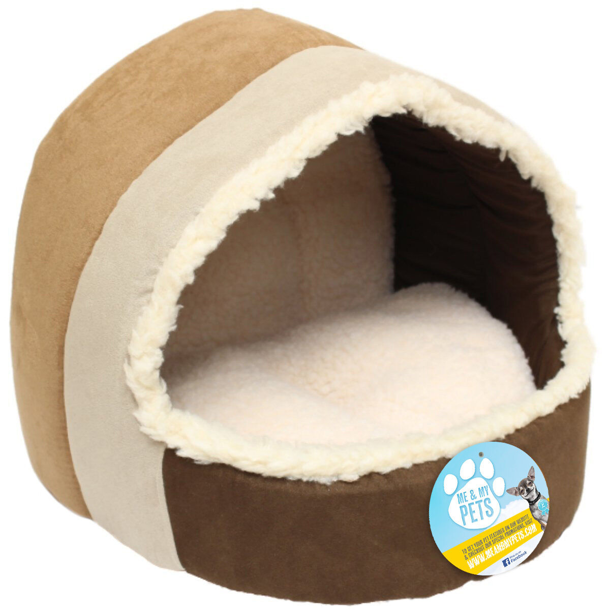 Fluffy Soft Cat Bed/puppy Bed/kitten Bed Igloo Cozy House Warm Comfortable Plush