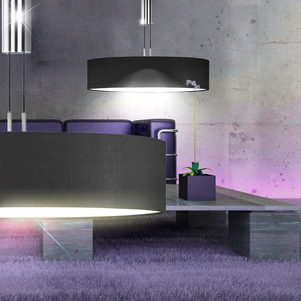 led decken pendel lampe 15 watt esstisch leuchte wohnzimmer licht schwarz 810lm eur 95 90. Black Bedroom Furniture Sets. Home Design Ideas