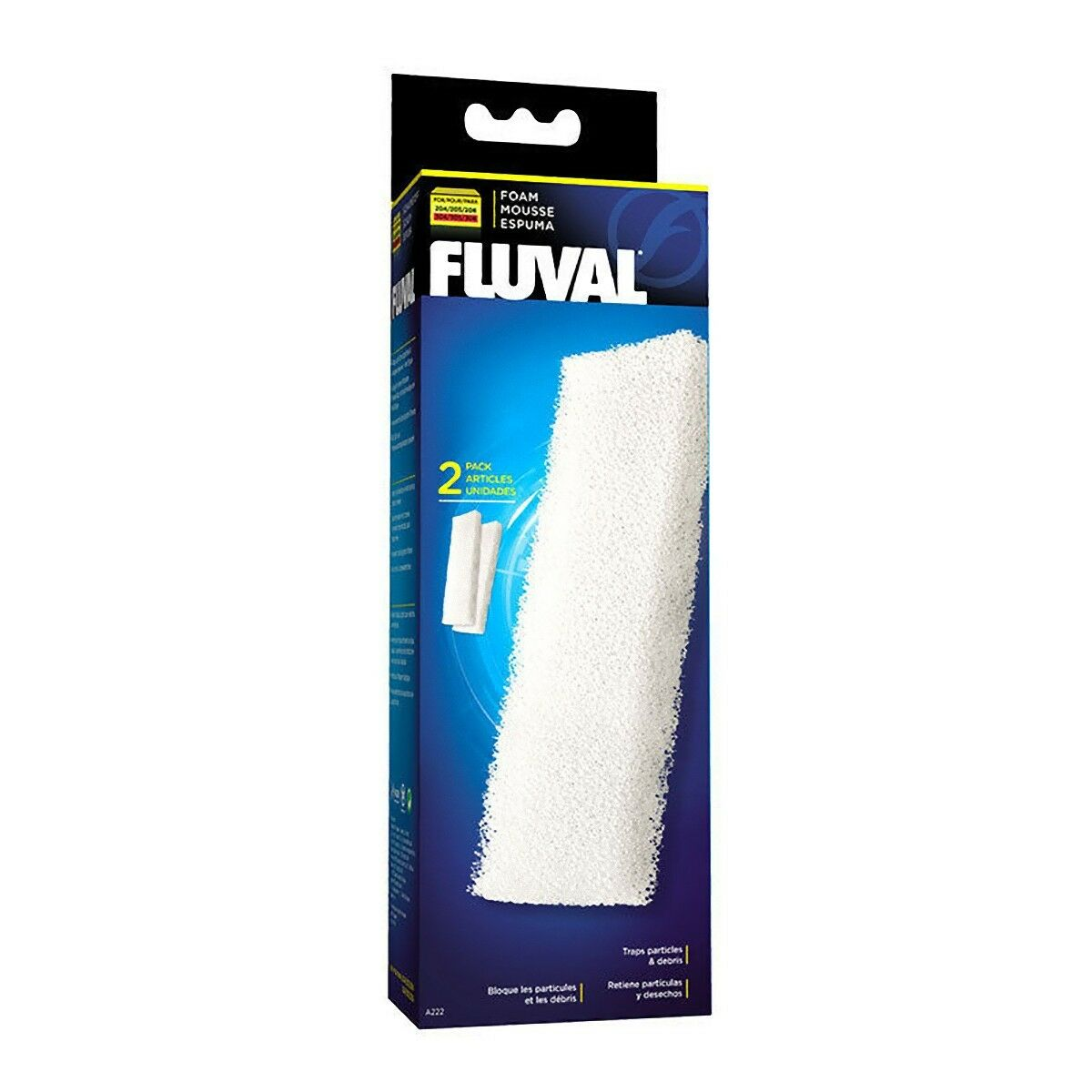 Fluval 204 205 206 304 305 306 Foam Pad Pack of 2 Genuine Replacement Pads
