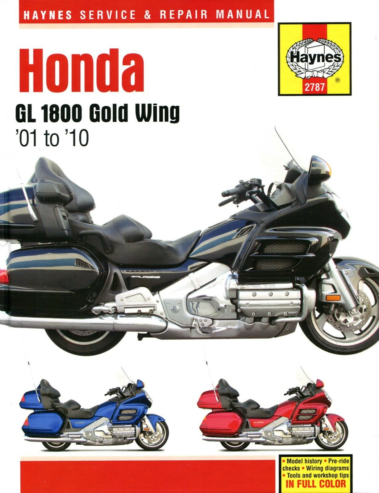 Haynes Manual 2787 Honda Gl1800 Gold Wing 1800 01 10 Workshop 1200 Goldwing Wiring Diagram For 1 Of 1free Shipping