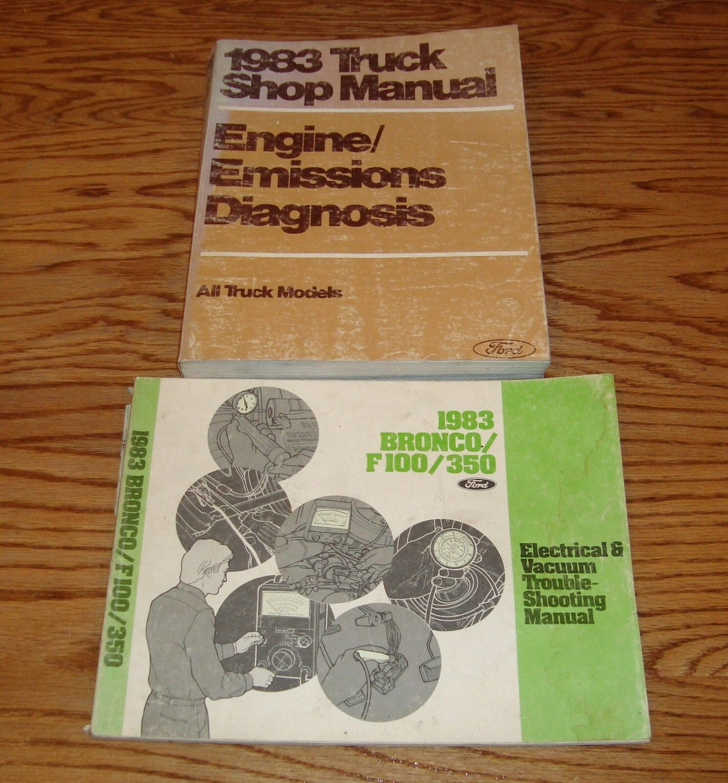 1983 Ford Truck Shop Service Manual + Bronco F100/350 Wiring Diagram Set 83  1 of 1Only 1 available ...