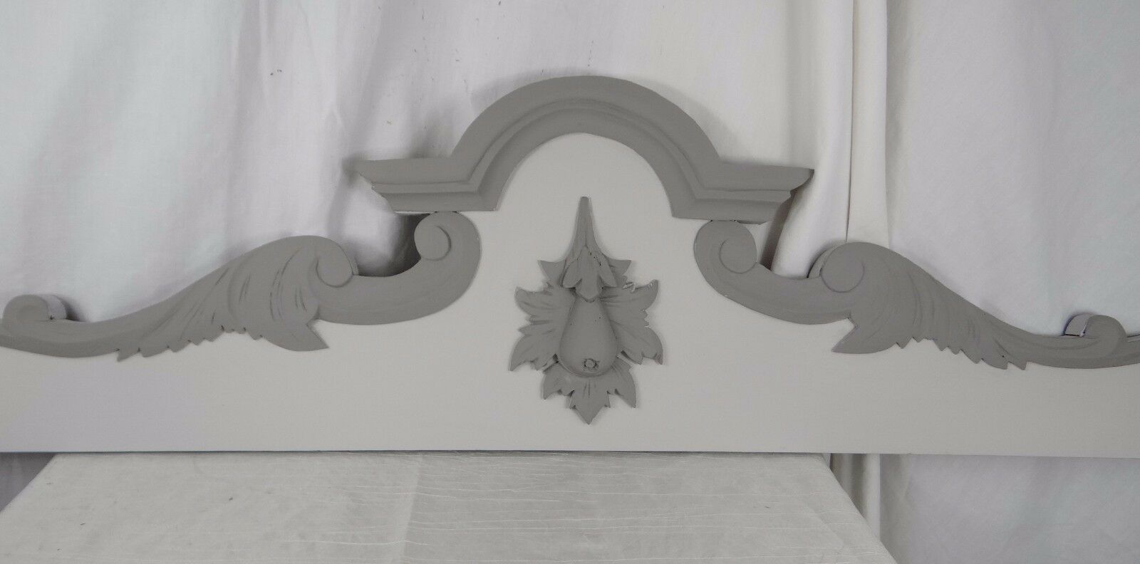 """43"" French Antique Carved Wood Pediment Panel"