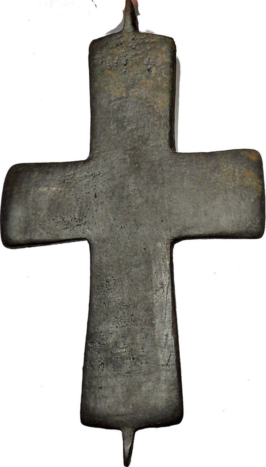 Bronze Ancient Christian Byzantine Cross Artifact circa 1000-1100AD i51456