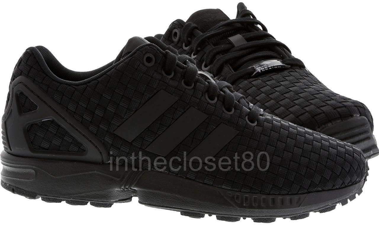 Adidas ZX Flux Woven Triple Black Torsion ZX8000 Mens Trainers B34005 1 of 5 ...