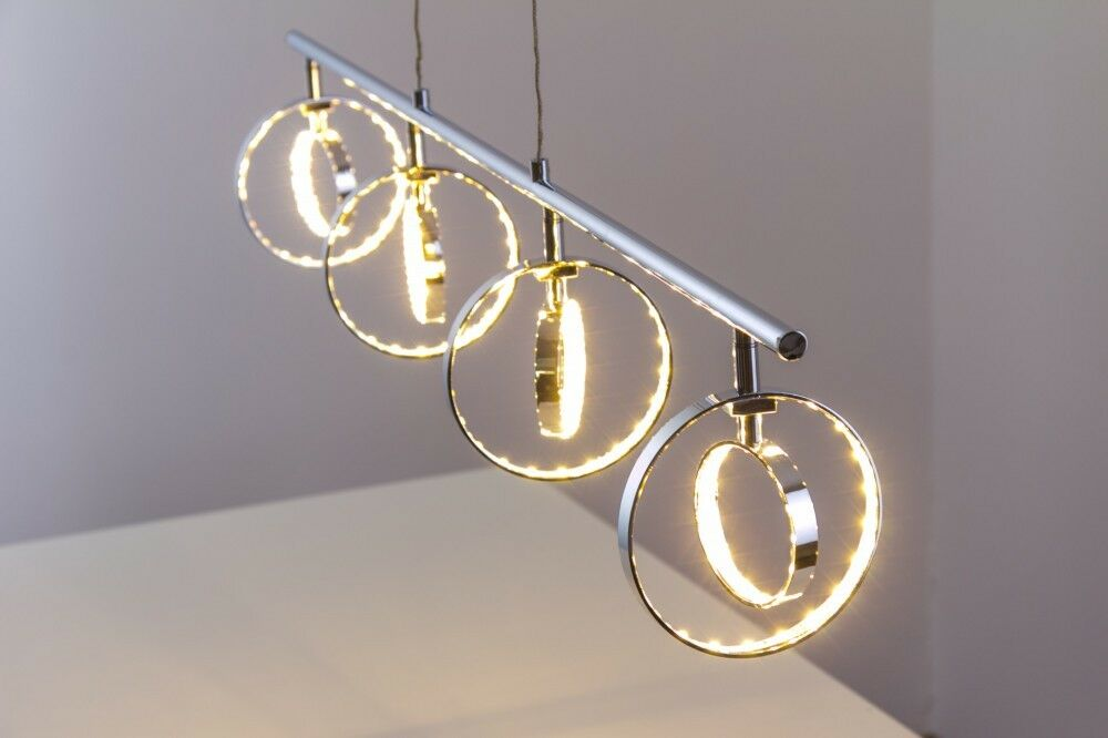 Led design h ngelampe chrom pendelleuchte leuchte for Suspension led cuisine design
