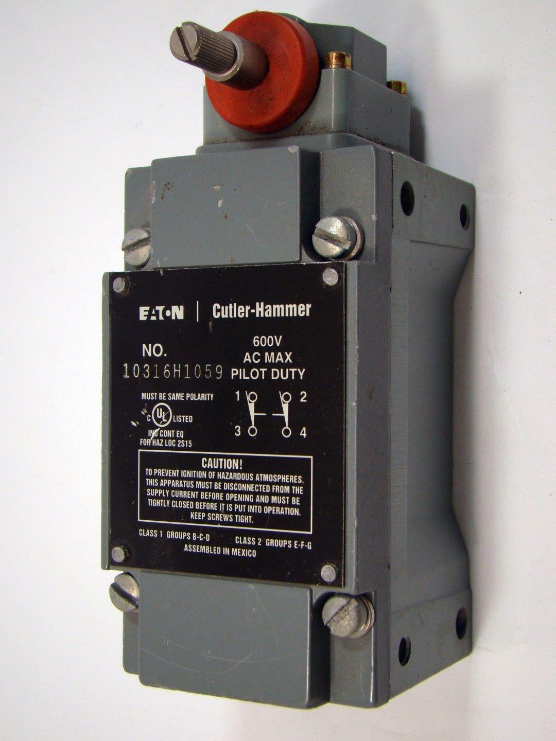 EATON CUTLER-HAMMER 10316H1059 Limit Switch Used - $74.75 | PicClick