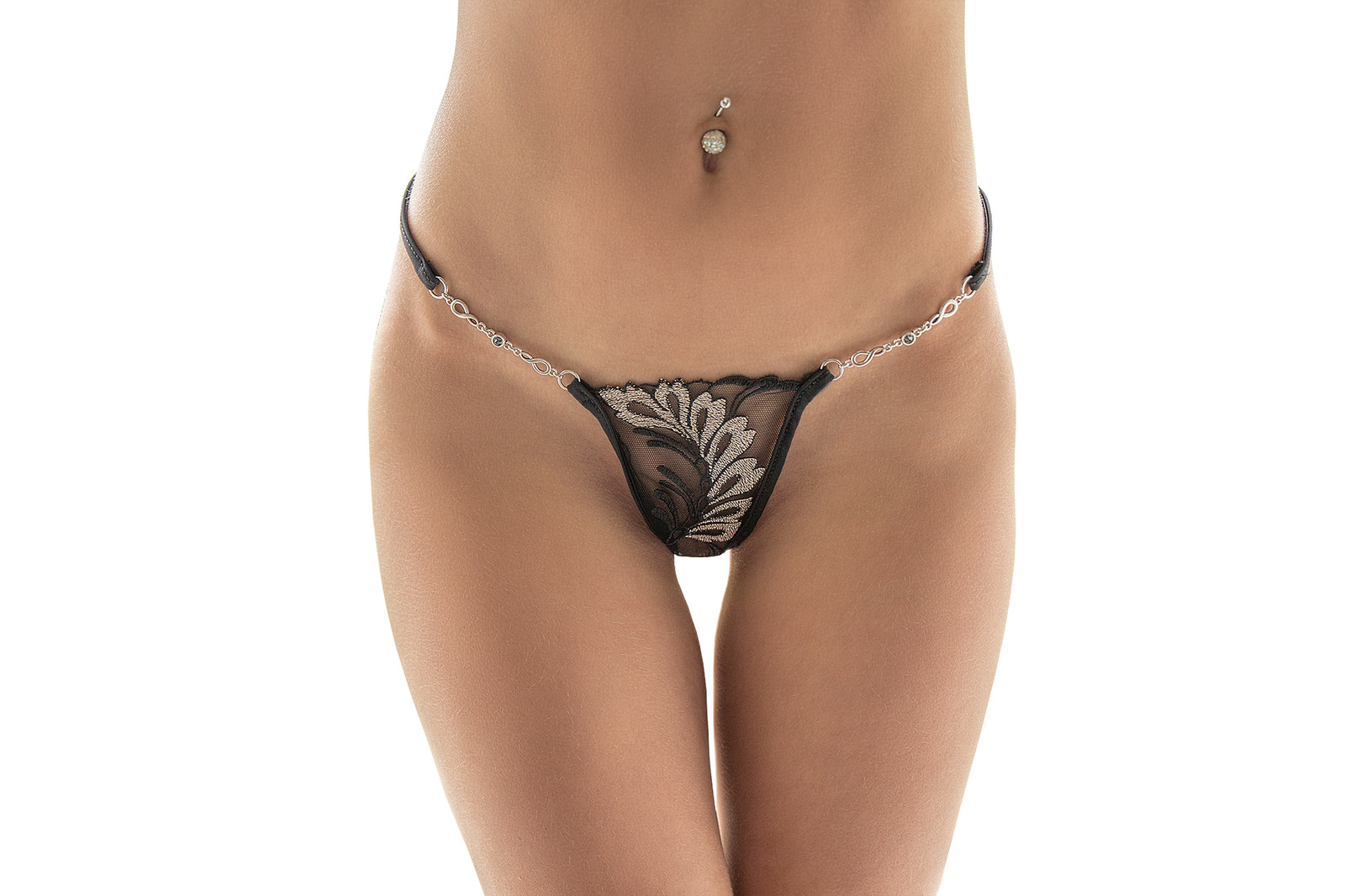 LUCKY CHEEKS Luxury String SILVER MOON