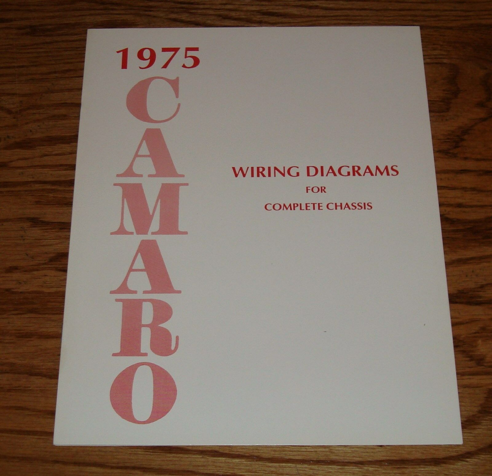 1975 Camaro Wiring Diagram Detailed Schematics Fuse Box Chevrolet Manual For Complete Chassis 75 1973 Charger