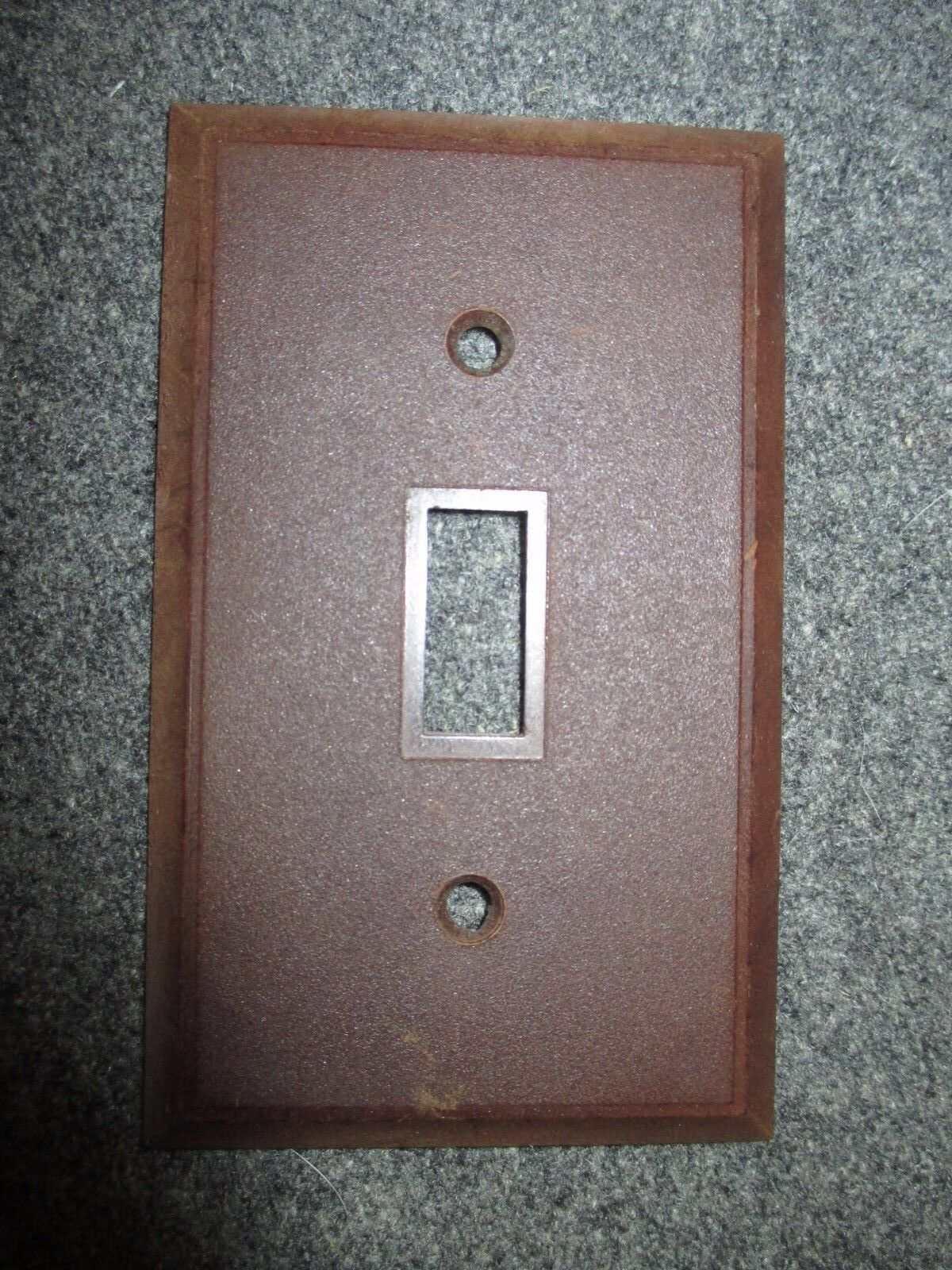 Vintage Bakelite Leviton Brown Switch Plate Cover Mcm
