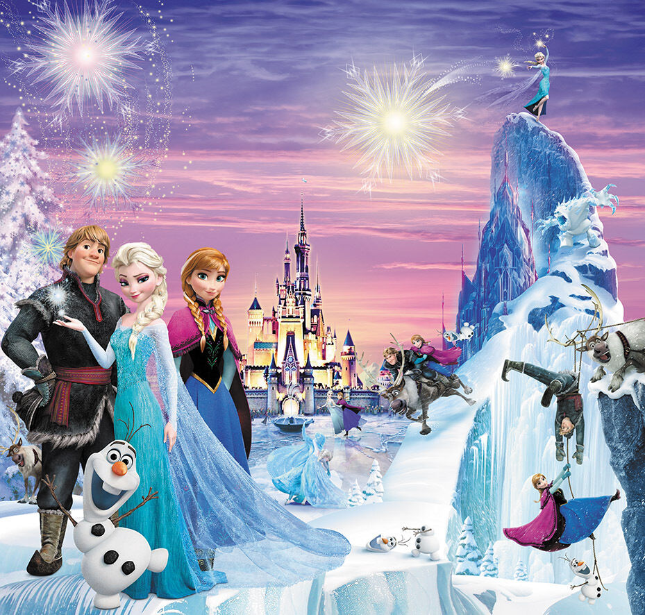 eisk nigin kinder fototapete tapete elsa olaf anna zimmer poster foto frozen eur 26 99. Black Bedroom Furniture Sets. Home Design Ideas
