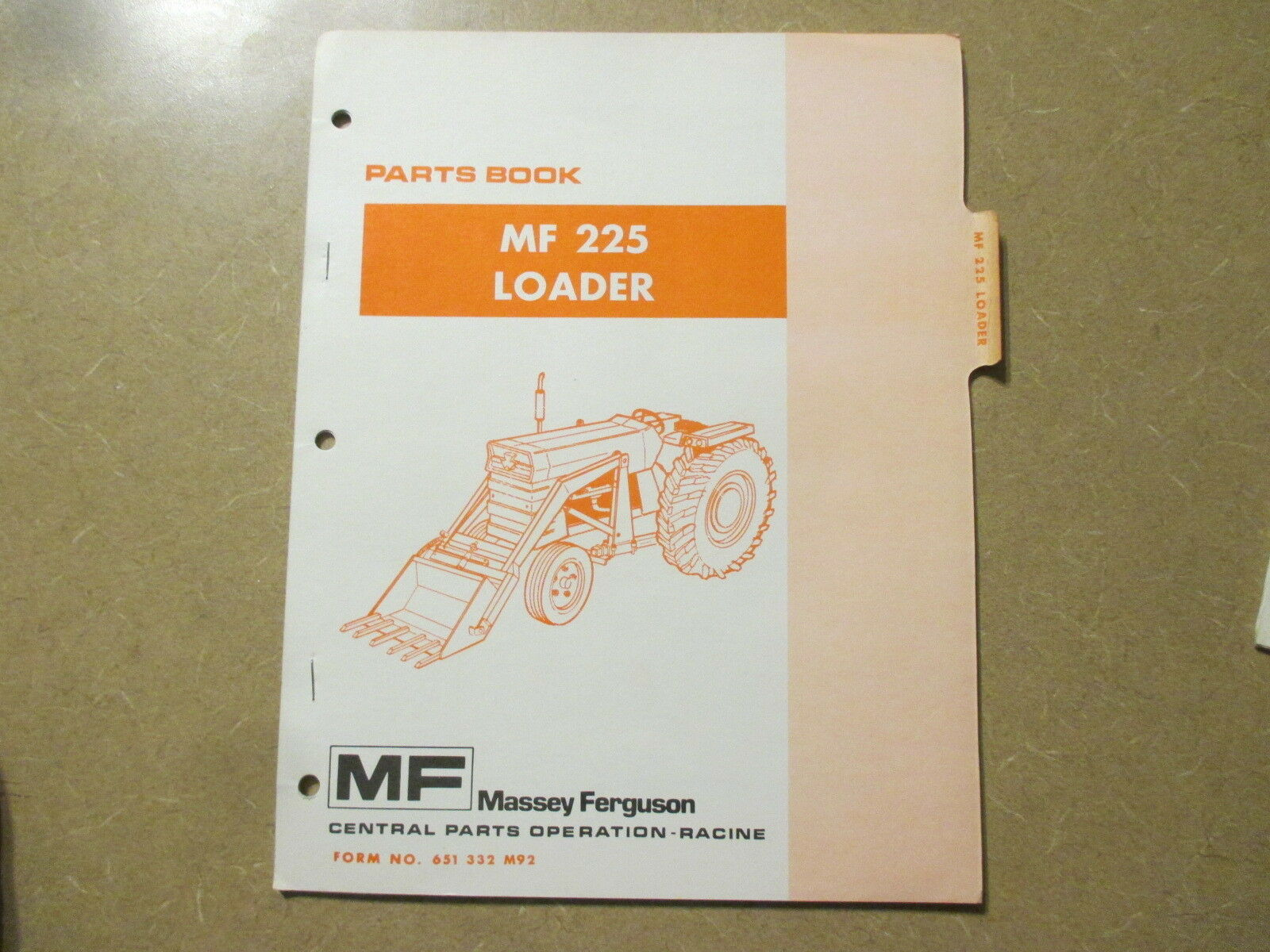 Massey Ferguson 225 loader parts manual 1 of 1Only 1 available ...