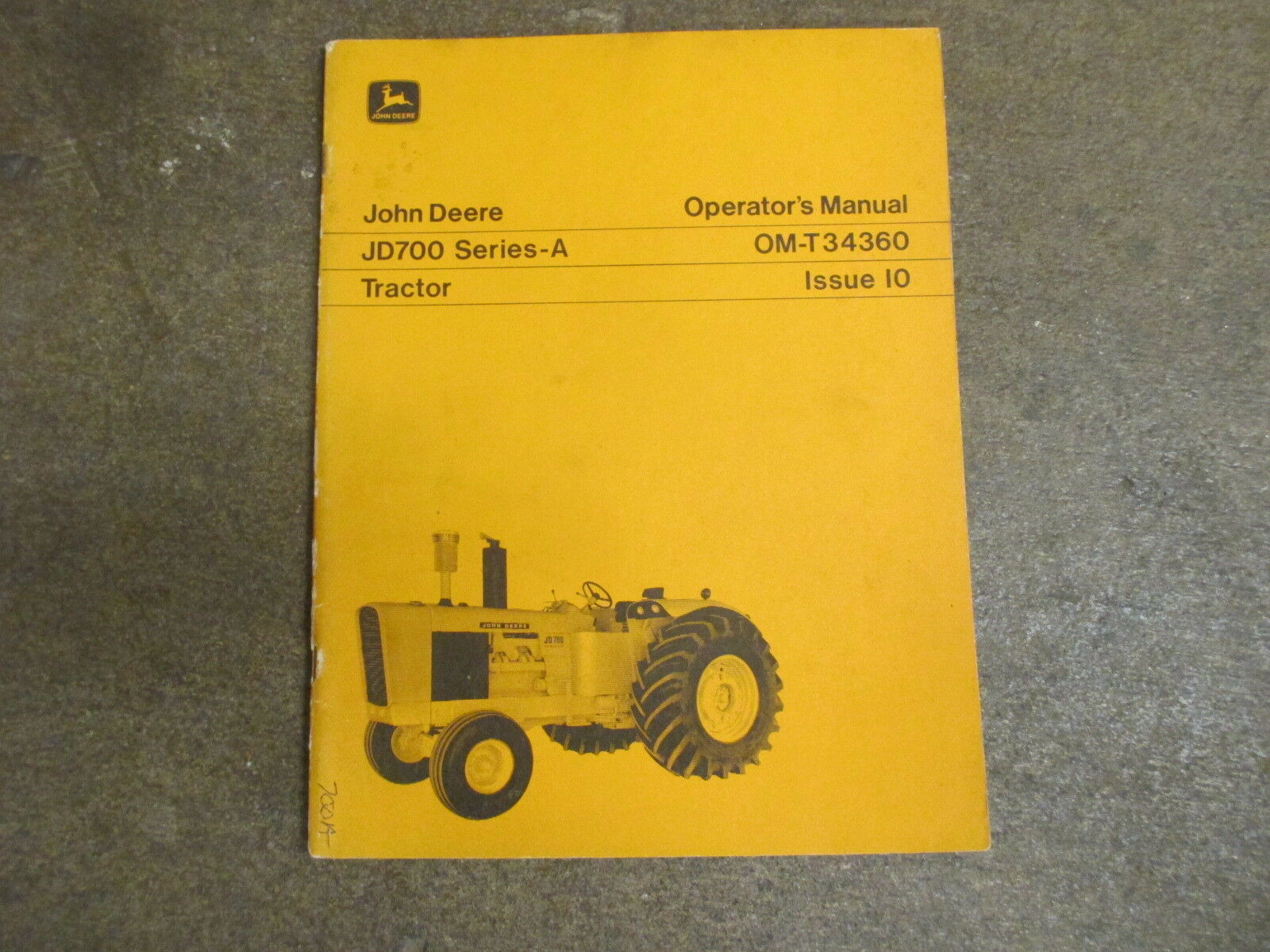 John Deere 700 series A JD700 tractor owners & maintenance manual 1 of  1Only 1 available ...