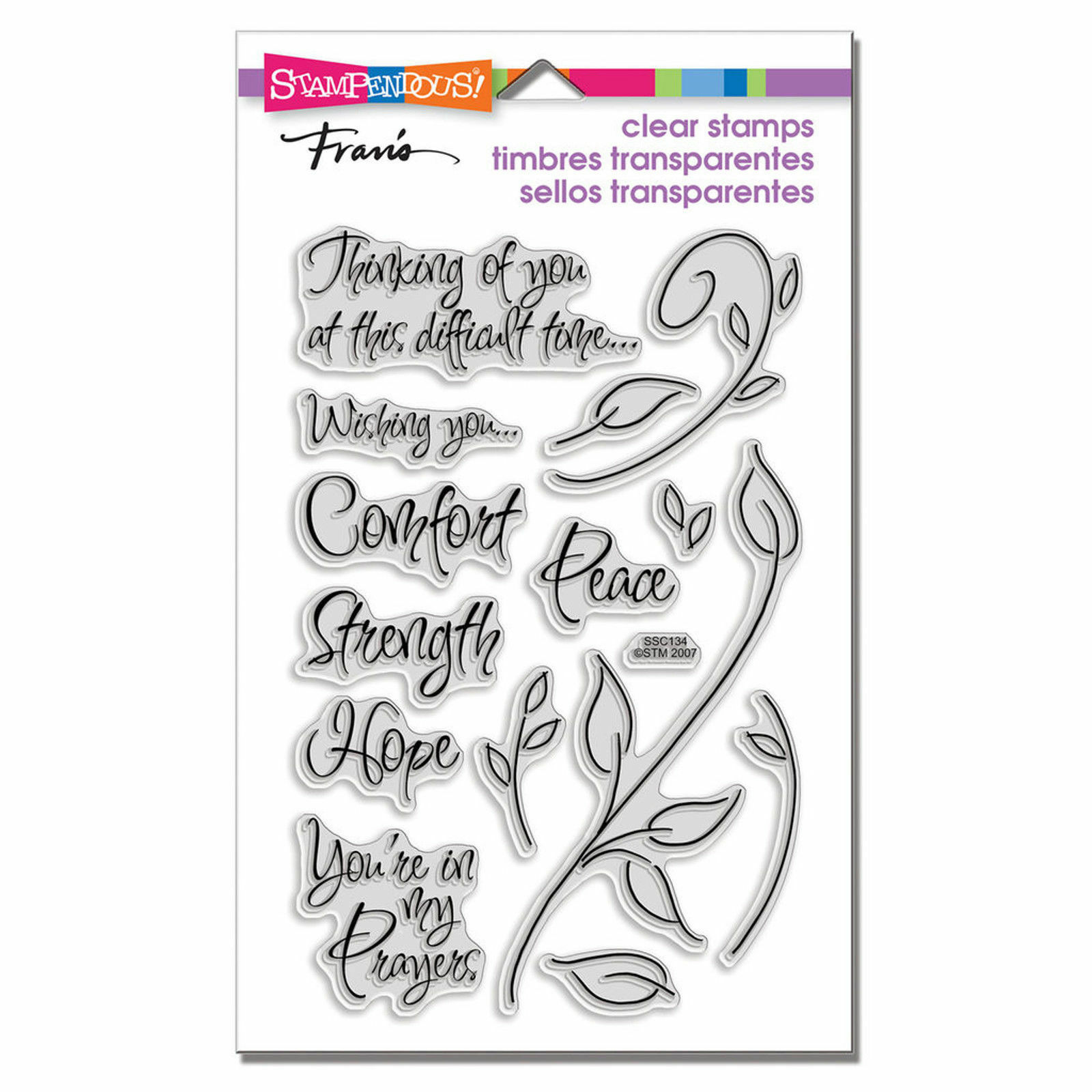 encouraging words bereavement clear acrylic stamp set by stampendous