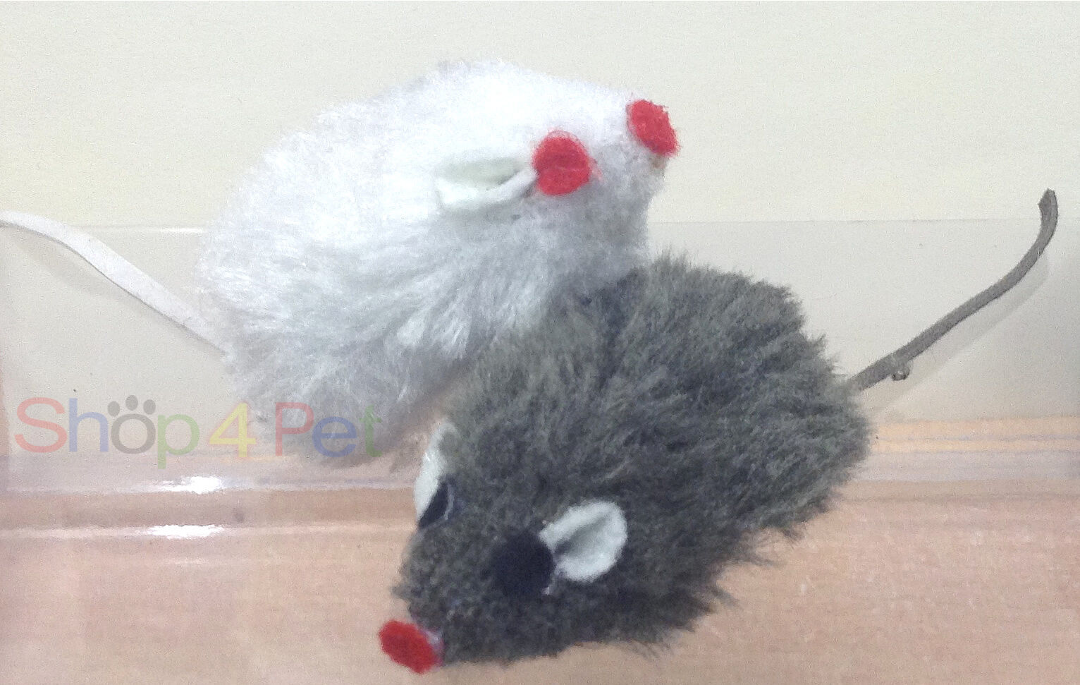 Cat Toy Mouse, in White or Grey, Cats have hours of fun with this toy