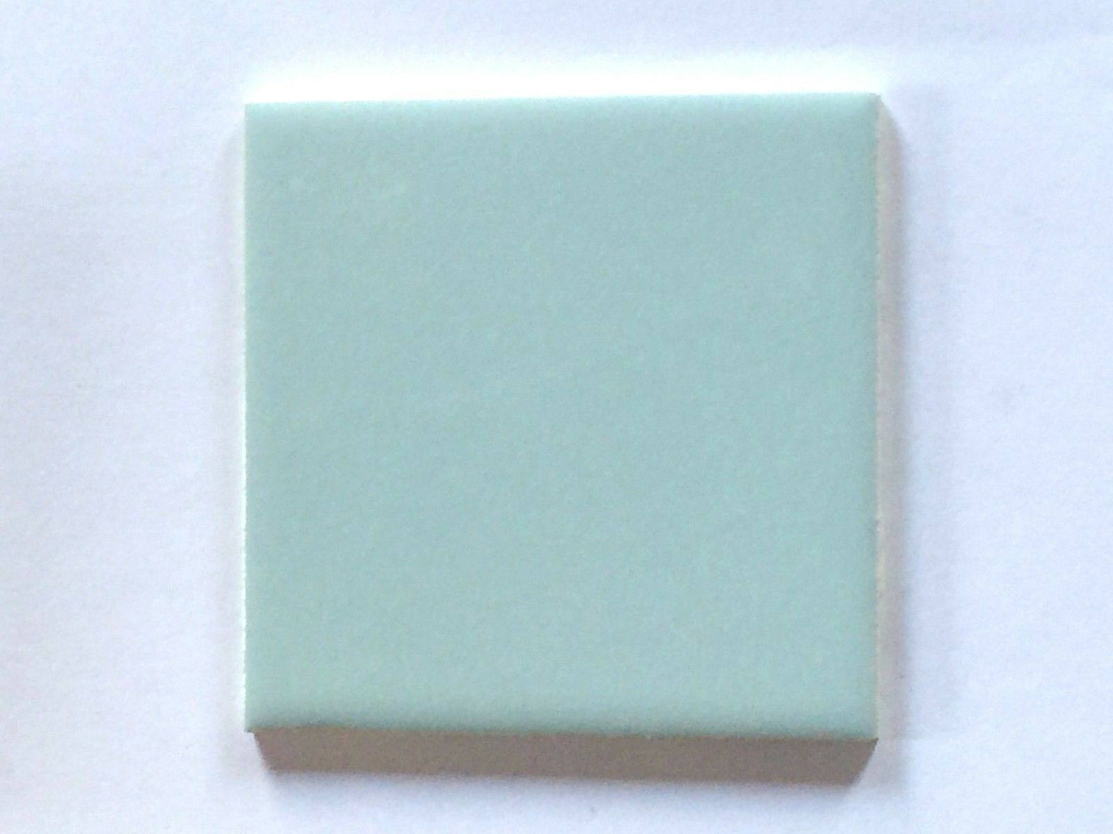 Z-834) 1 PC Vintage Ceramic Tile Wall 4 1/4 Glossy Bright Baby Blue ...