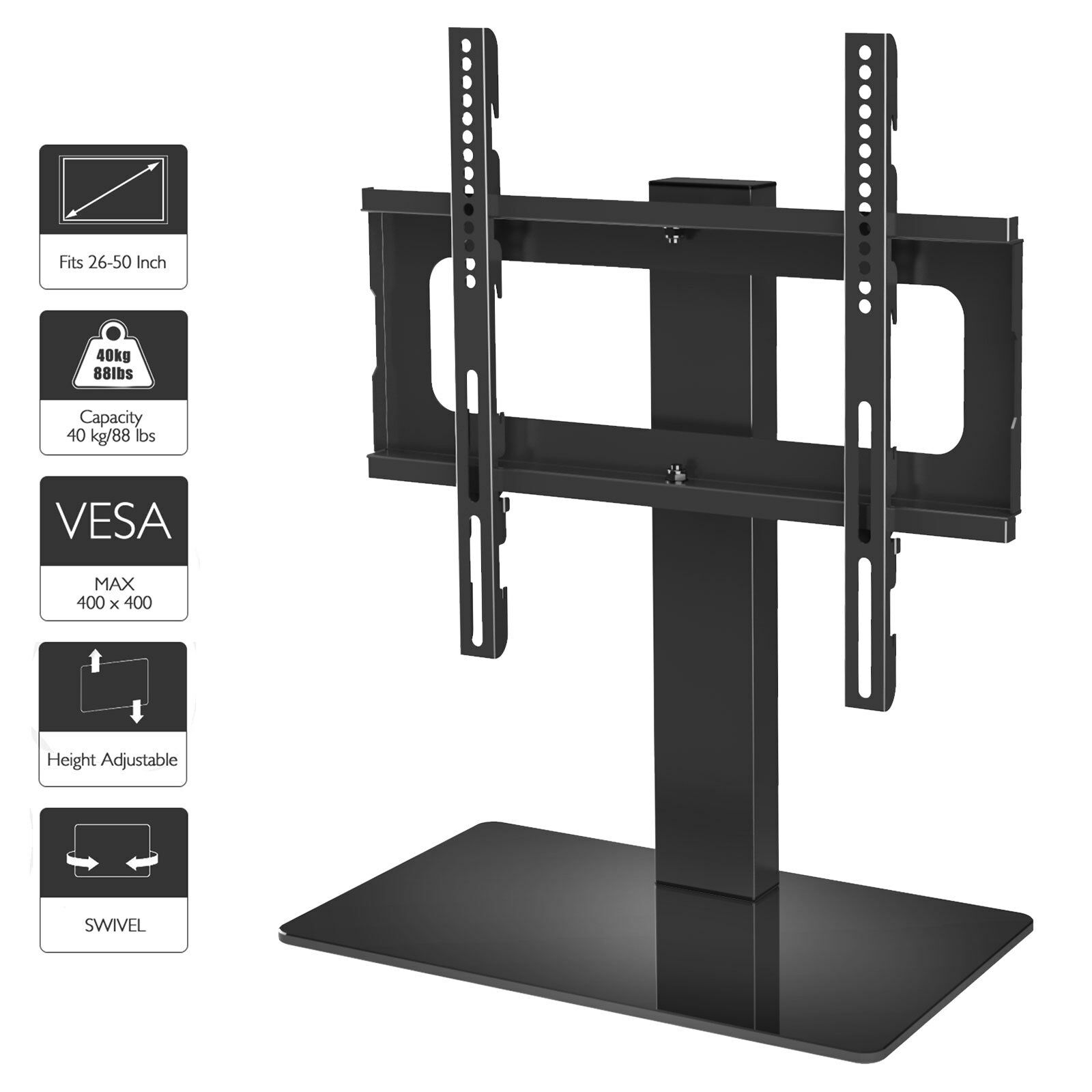 tabletop pedestal bracket tv stand lcd led 26 47 inch. Black Bedroom Furniture Sets. Home Design Ideas