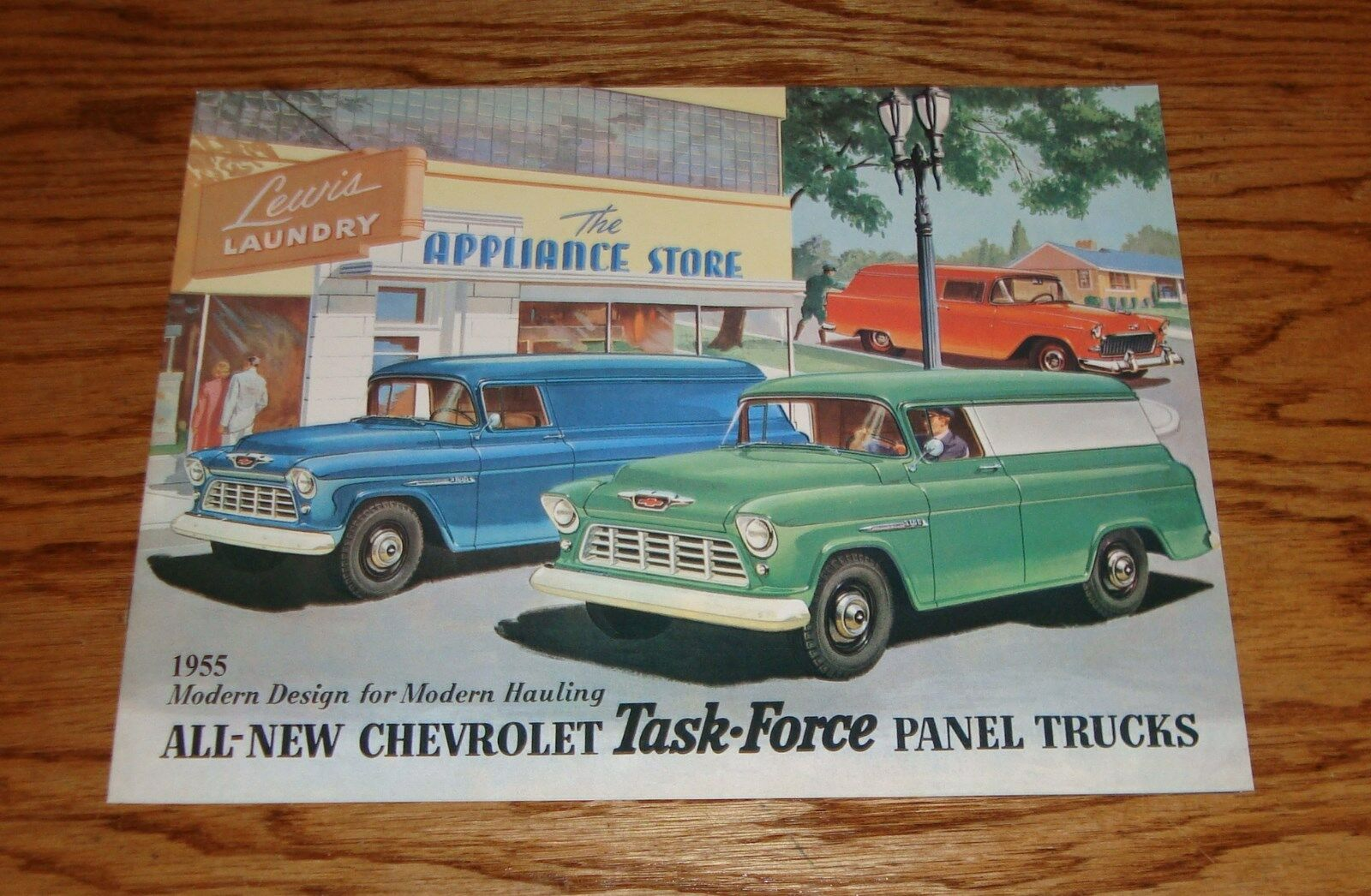 1955 Chevrolet Task Force Panel Trucks Sales Brochure 55 Chevy 1957 Apache Truck For Sale