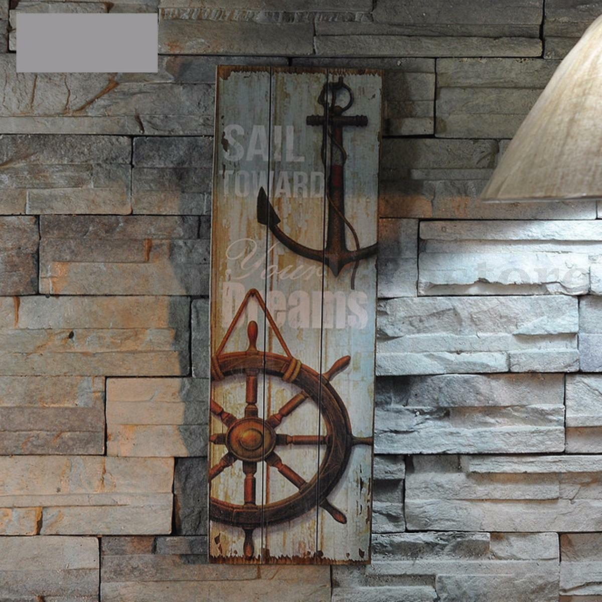 hot nautical decor rustic wood sign plaque home wall art picture