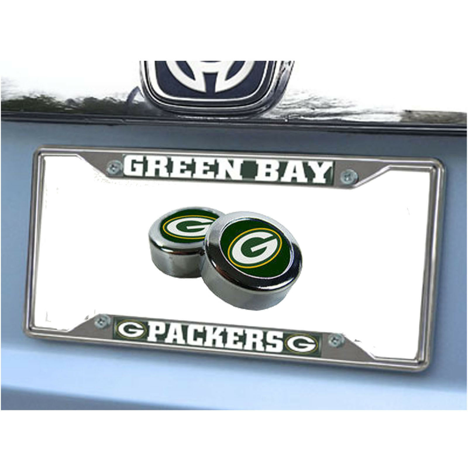 NEW NFL GREEN Bay Packers Car Truck Chrome Metal License Plate Frame ...