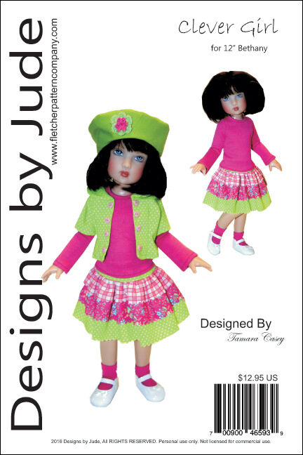 CLEVER GIRL DOLL Clothes Sewing Pattern for 12\