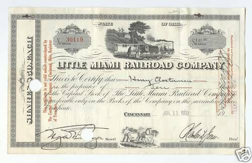 Little Miami Railroad Company (Ohio), ca. 1935.