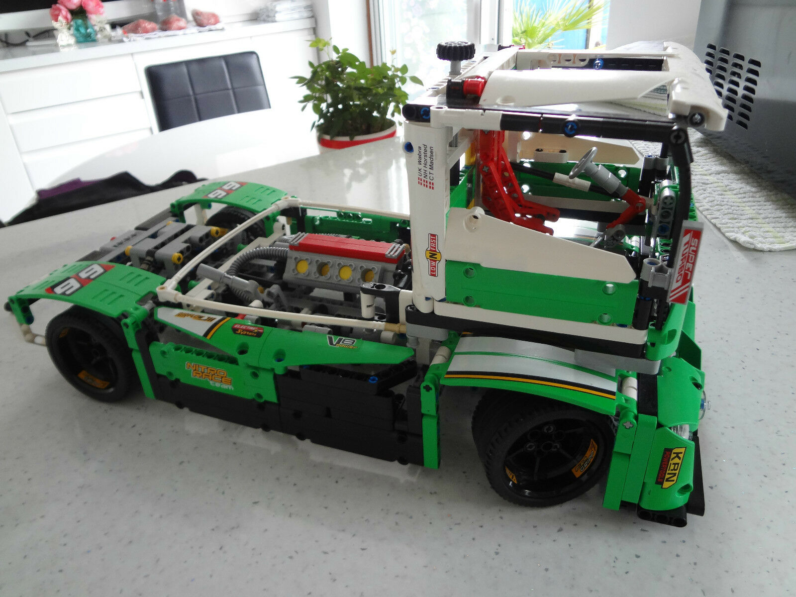 lego technic 42039 24 hour race car built as drag truck free p p picclick uk. Black Bedroom Furniture Sets. Home Design Ideas