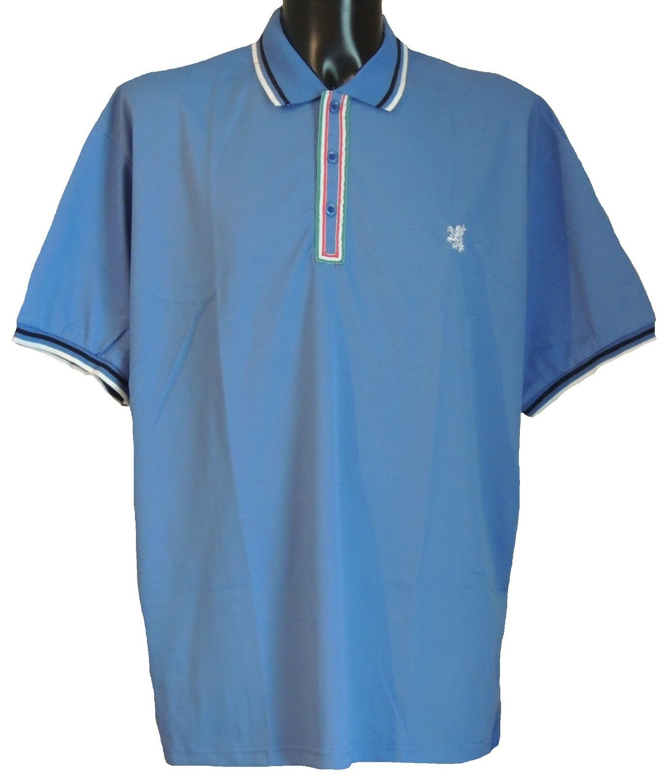 New Big Size Mens Tipped Polo Shirt 2xl 3xl 4xl 3 Colours Red