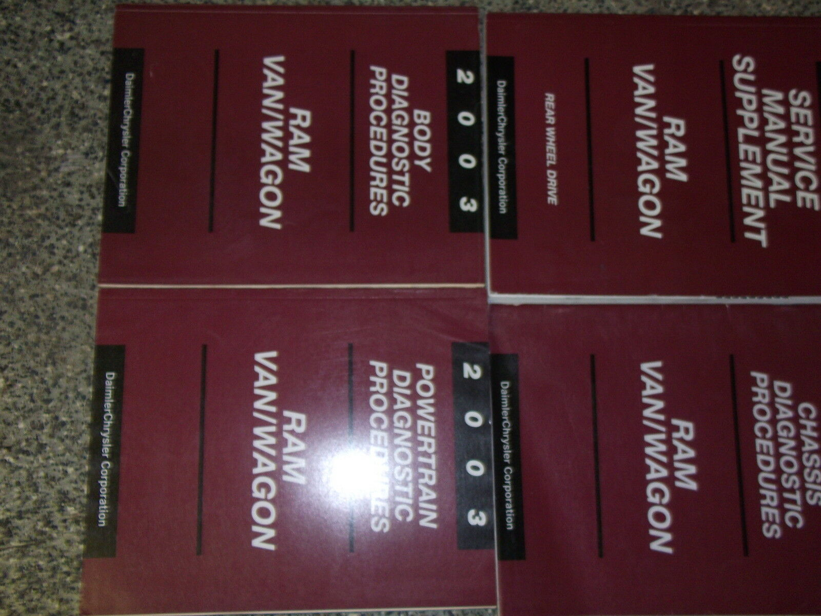 2003 DODGE RAM VAN WAGON Service Repair Shop Manual Set FACTORY OEM 03 BOOK  1 of 1 See More