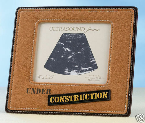 Ultrasound Picture Frame Under Construction Baby Frame Gift Baby