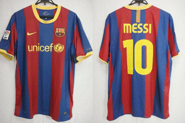 77e25bde828 2010-2011 FC Barcelona Barca Home Jersey Shirt Camiseta unicef Nike Messi  10 S 1 of 12FREE Shipping ...