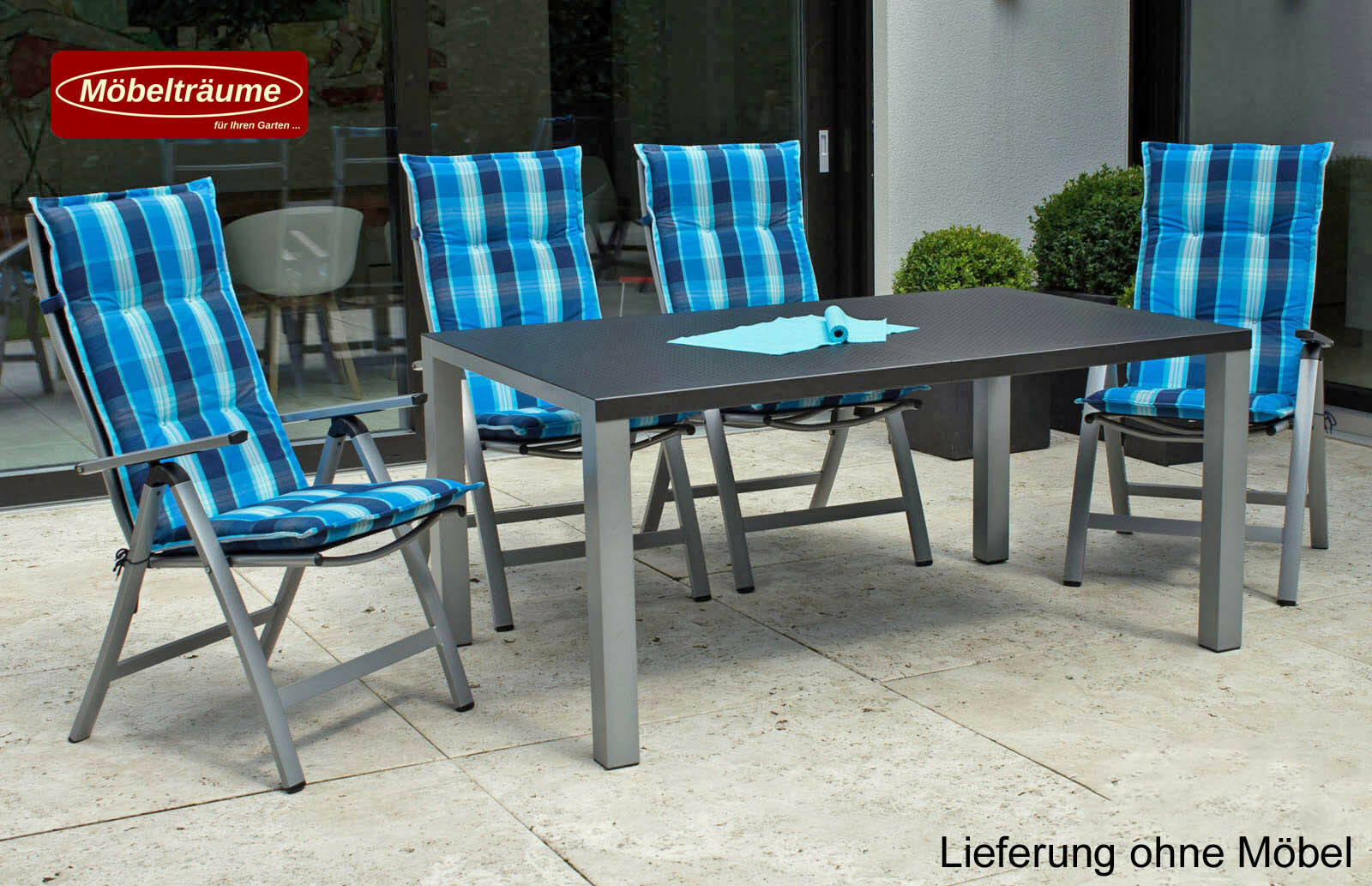 neu sun garden gartenm bel auflagen polster kissen in blau f r hochlehner sessel picclick be. Black Bedroom Furniture Sets. Home Design Ideas
