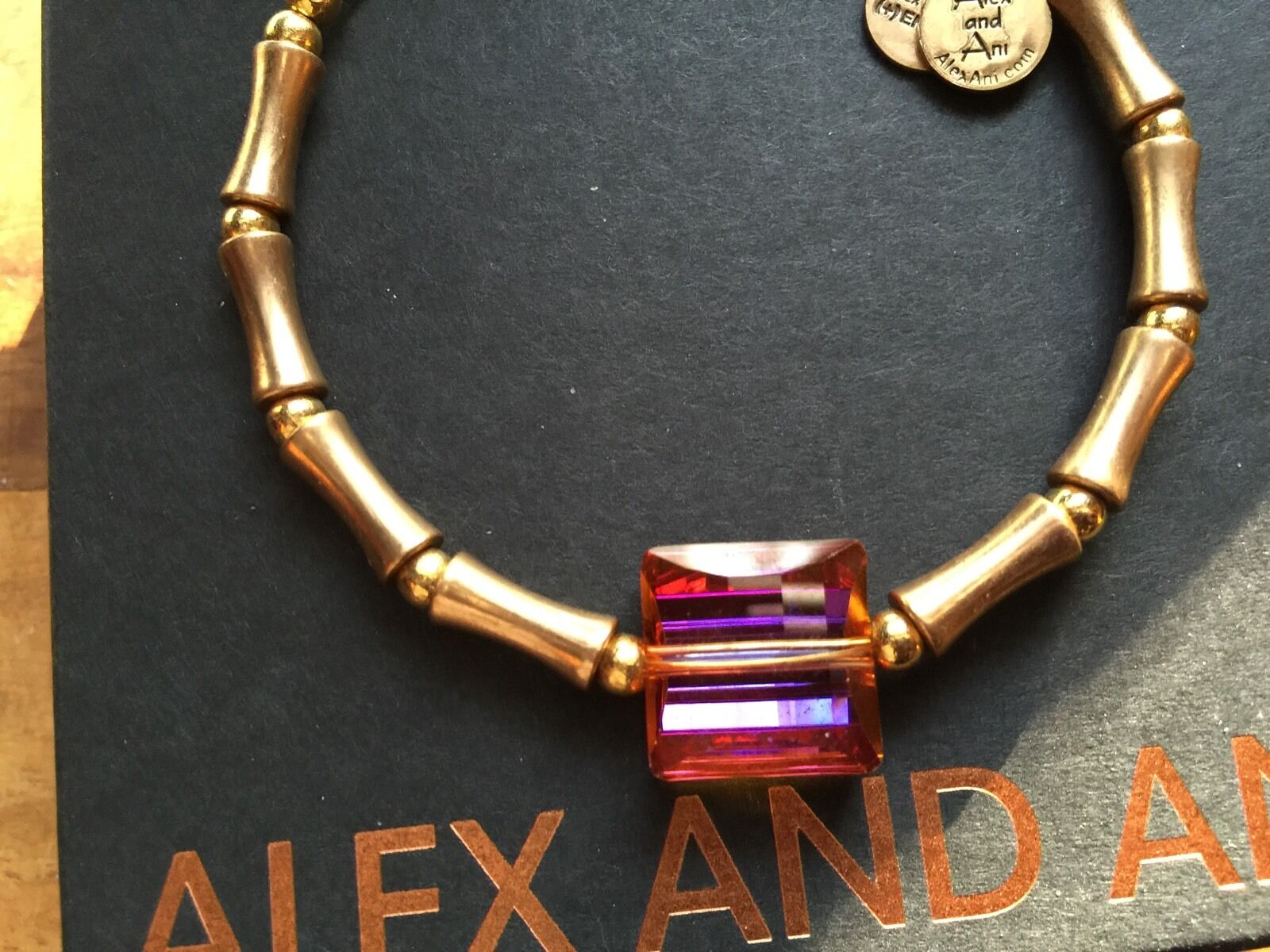 Rare Alex And Ani Topaz Square Up Swarovski Crystal Beaded Bangle Bracelet 1 Of 12only Available