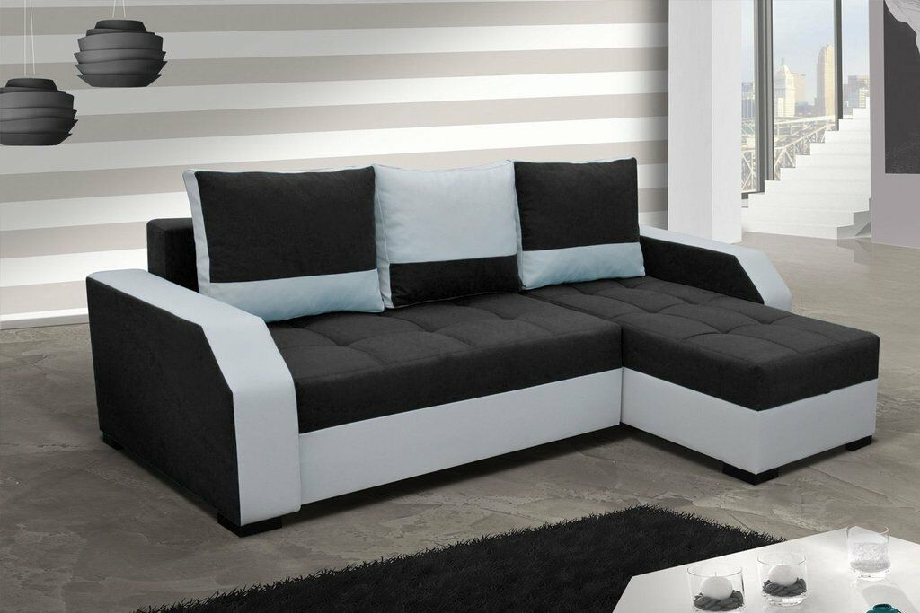 ecksofa aris mit bettfunktion eckcouch schlaffunktion sofa. Black Bedroom Furniture Sets. Home Design Ideas