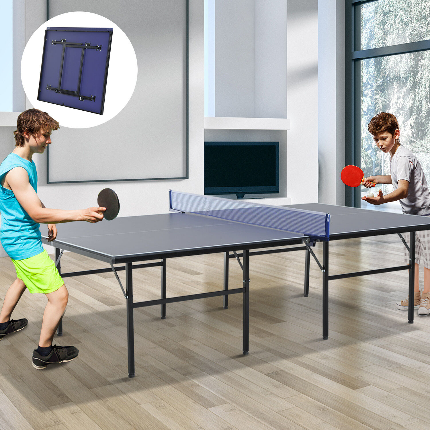 Professional tennis table ping pong set indoor outdoor for Table tennis 99